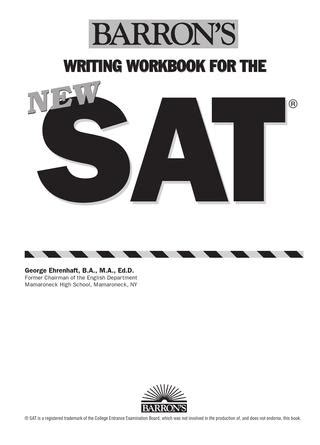 New SAT The New Essay - College Compass